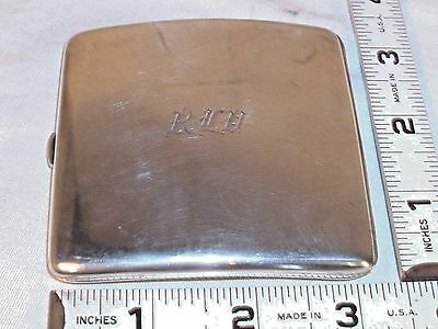 STERLING SILVER ART DECO CIGARETTE CASE 1930s TURNED INTERIOR