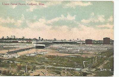 Gulfport MS Union Naval Stores Postcard c1910