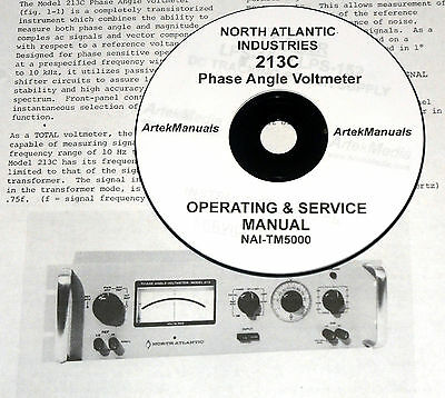 North Atlantic Industries 213C Phase Angle Voltmeter, Operating & Service Manual