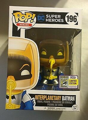 Sdcc 2017 Funko Exclusive Interplanetary Batman Limited Edition  Dc Super Heroes