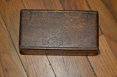 1889 Wooden Sewing Attachments Folding Box Hidden Hinges
