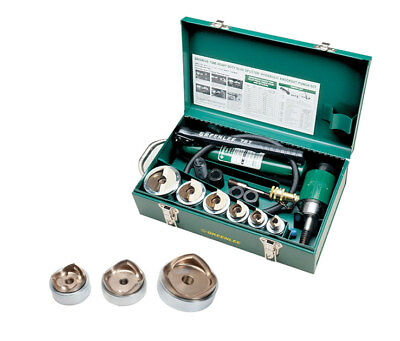 Greenlee 7506 Hydraulic Knockout Punch Kit Bundle w/ 7308 Punches and Dies Kit