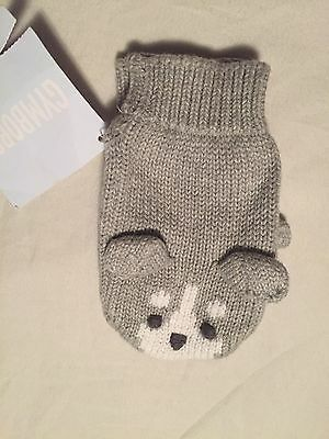 Gymboree Husky Pup Boys Mittens Gloves Size 12-24 Months Nwt