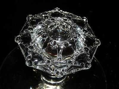 Heisey #1533 Wampum Very Rare (1) single light candle holder  Clear Crystal