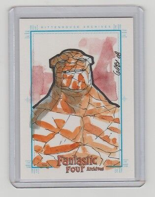 Marvel Fantastic Four Archives Thing Sketch Sketchafex   Card 1/1