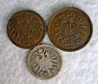 3 COINS FROM GERMANY  (stock# 0541)