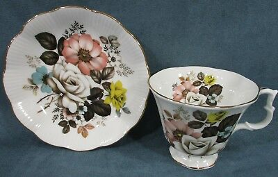Royal Albert Beige Yellow Rose Floral Cup Saucer Set Bone China Made In England