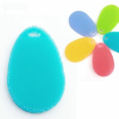 Soft Silicone Sponge Scrubber Kitchen Tool Fruit Dish Washing Household Clean