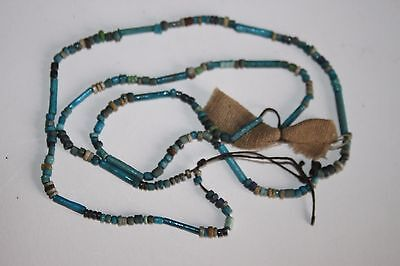 ANCIENT EGYPTIAN FAIENCE RESTRUNG BEAD NECKLACE 30th Dyn 380 BC