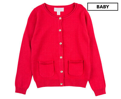 Pumpkin Patch Girls' Carly Rose Cardigan - Rococco Red