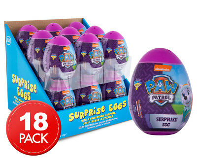 18 x Paw Patrol Pink Surprise Egg 10g