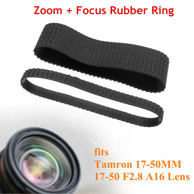Lens Zoom + Focus Grip Rubber Ring Replace Set For Tamron 17-50MM 17-50 F2.8 A16