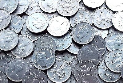 Five Penny 5p 5 Pence  UK Decimal Collectable Currency Coin Choose Date