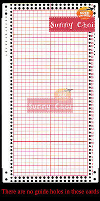 18 Stitch Pattern Blank Punch Card For Singer Knitting Machine MK70 HK160