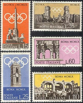 Italy 1959 Olympic Games/Olympics/Buildings/Architecture/Tourism 5v set (n44424)