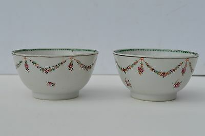 2 Fine  Antique Hand Painted 18Th Century Chinese Export Porcelain Small Bowl