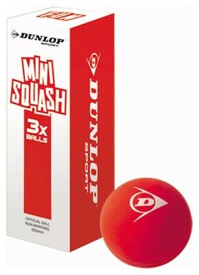 Dunlop Fun Mini Squash 60mm 3 Units Red