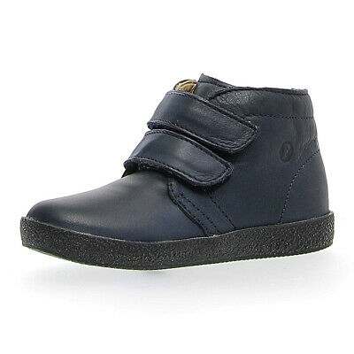 NATURINO FALCOTTO BABY KIDS LEATHER SHOES Touch Fastener 9101 Navy Bleu Blue