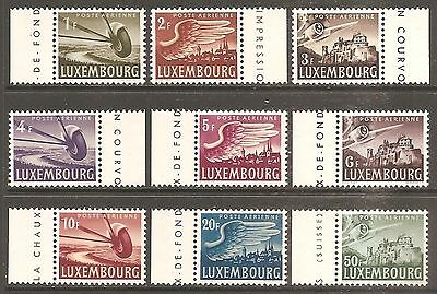 LUXEMBOURG 1946 Air Set of 9 SG 479-487 MH/* (Cat £14)