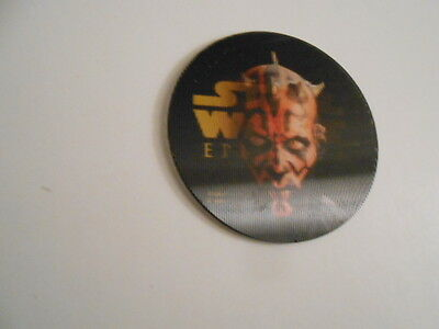 Star Wars Episode 1 rare Darth Maul limited issued lenticular disc 1990s