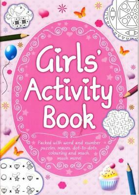 Girl's Activity Book crosswords, dot-to-dot, spot the difference, wordsearch,