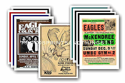 EAGLES  - 10 promotional posters - collectable postcard set # 1