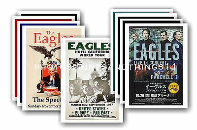 EAGLES  - 10 promotional posters - collectable postcard set # 2