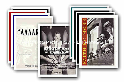 FAITH NO MORE  - 10 promotional posters - collectable postcard set # 1