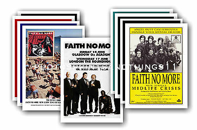 FAITH NO MORE  - 10 promotional posters - collectable postcard set # 2