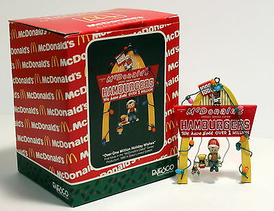 """1990 Enesco McDonalds Golden Arches Christmas Ornament """"Over One Million Wishes"""""""