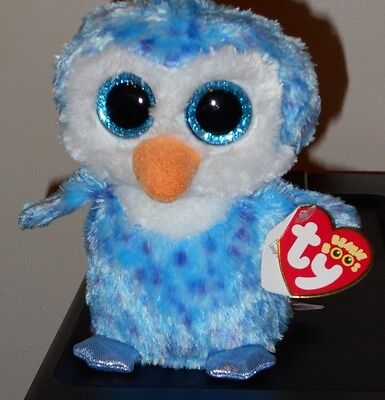 """NM* Ty Beanie Boos ~ ICE CUBE the 6"""" Penguin ~ Stuffed Toy ~ NM with MINT TAGS"""