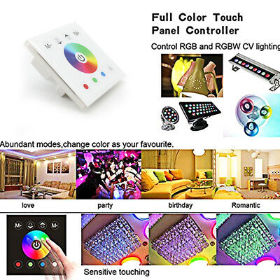 DC12V-24V Wall-mounted Touch Panel Controller For 3528 5050 RGB RGBW LED Strip