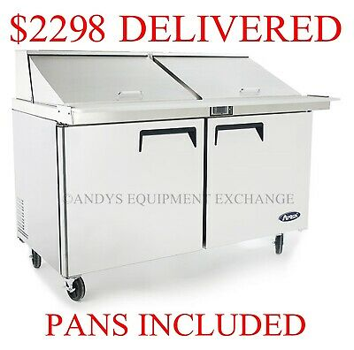 "2-Door Commercial Restaurant Megatop Sandwich Salad Prep table 60"" 5 foot wide"
