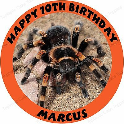 Personalised Spider Tarantula Insect Edible Icing Birthday Party Cake Topper