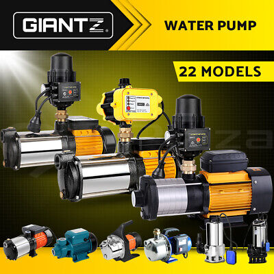 Giantz Water Pump High Pressure Rain Tank Garden Farm House Irrigation Fountain