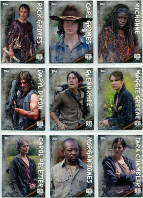 Walking Dead Season 6 Character Profiles Complete 20 Card Chase Set