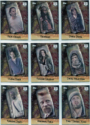 Walking Dead Season 6 Chop Complete 10 Card Chase Set