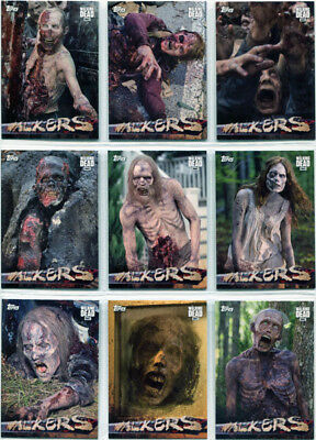 Walking Dead Season 6 Walkers Complete 10 Card Chase Set