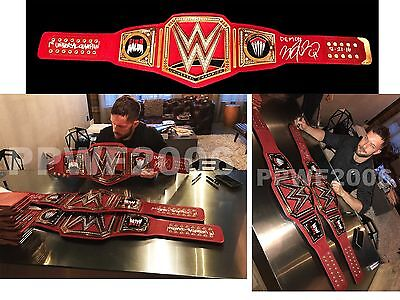 Wwe Finn Balor Autographed Universal Belt & Side Plate Box With Proof Must Look