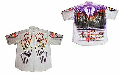 Wwe Ultimate Warrior Ring Worn Air Brushed Shirt With Coa From Warrior Creation