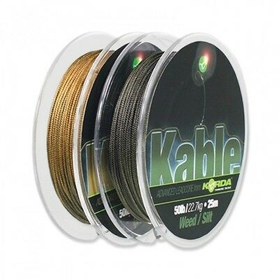 Korda NEW Fishing Camo Kable Leadcore Leader *7m or 25m*