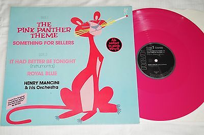 Henry Mancini & His Orchestra – The Pink Panther Theme, Pink Vinyl, LP, vg++