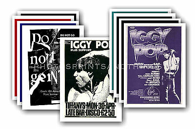 IGGY POP  - 10 promotional posters - collectable postcard set # 2