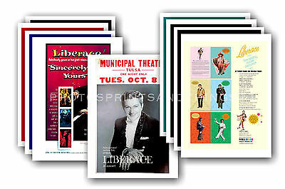 LIBERACE  - 10 promotional posters - collectable postcard set # 1