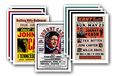 JOHNNY CASH  - 10 promotional posters - collectable postcard set # 2