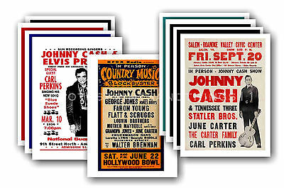 JOHNNY CASH  - 10 promotional posters - collectable postcard set # 3
