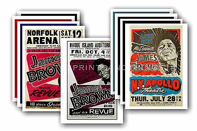 JAMES BROWN  - 10 promotional posters - collectable postcard set # 1