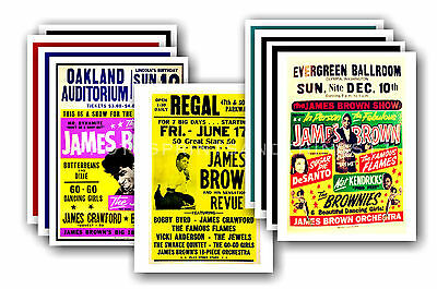 JAMES BROWN  - 10 promotional posters - collectable postcard set # 2