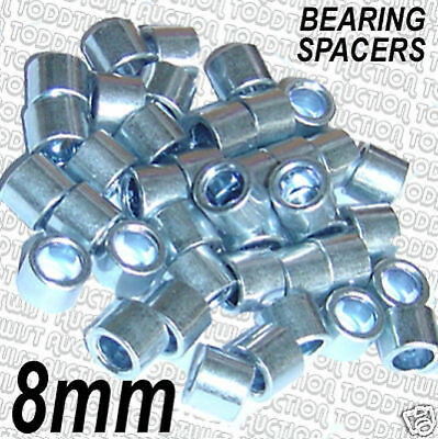 8mm -  Quad / Roller Skate Alloy Bearing Spacers - Set of 8  ALLOY SPACERS