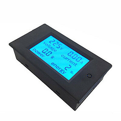 4in1 AC 80-260V LCD Digital 0-20A Dual Panel Volt Watt Power Meter Ammeter1class